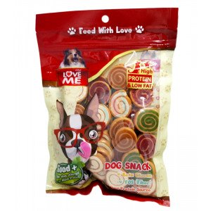 Love Me Soft Dog Snack (Pinwheel) Made i...