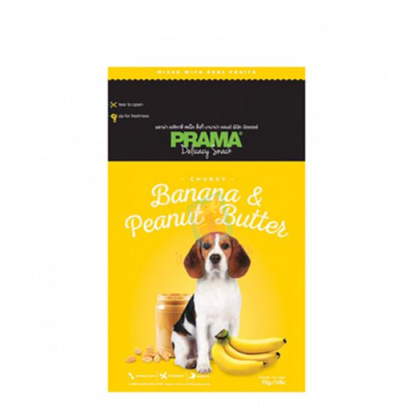 Prama Dog Treats, Banana & Peanut Butter 70g