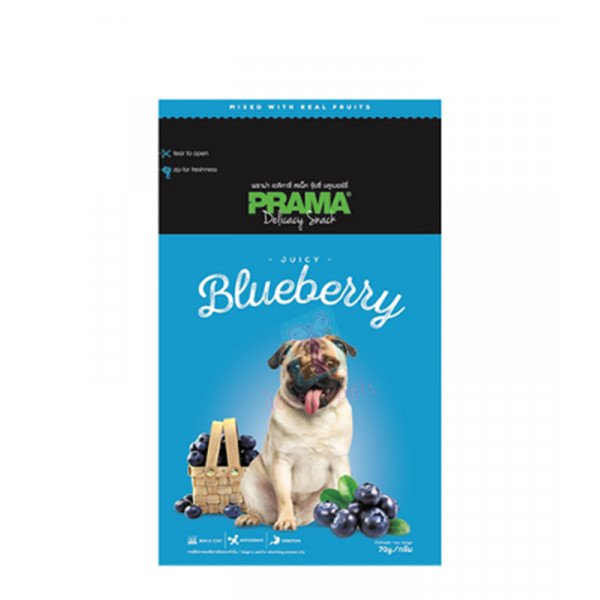Prama Dog Treats, Blueberry 70g