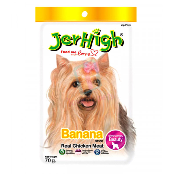 Jerhigh Dog Snack Banana Flavor, 70 gram...