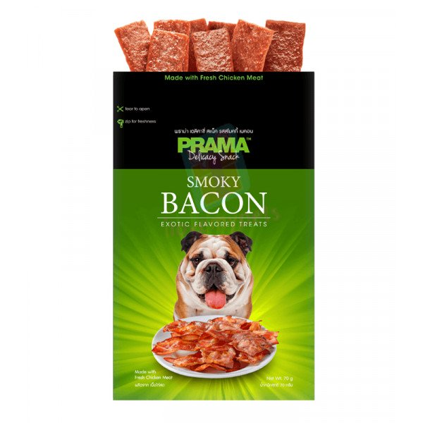 Prama Dog Treats, Bacon 70g