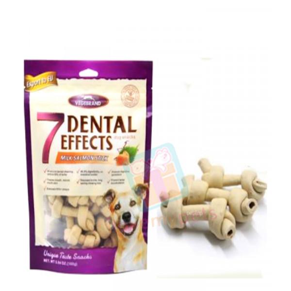 Vegebrand 7 Dental Effects Dog Treats Bone 160g (10-12 pcs)