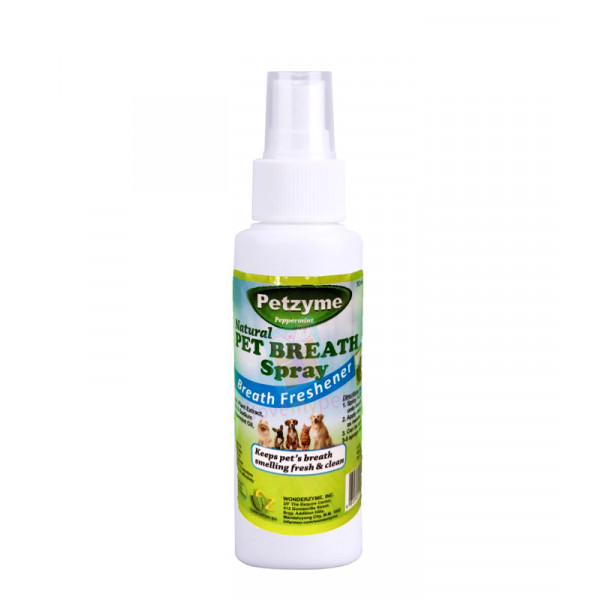 Petzyme Pet Breath Spray, Peppermint Bre...
