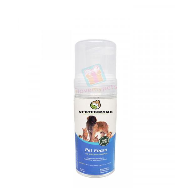 Nurturezyme Pet Dry Clean Foam Shampoo, ...