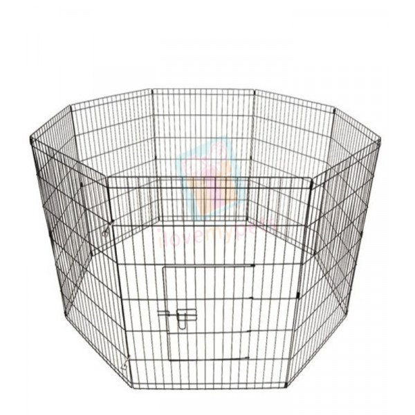 "8 panel Exercise pen PL 3.5 (107cmX61cmX8) or (42""x24""x8)  Panel, Color (Black)"