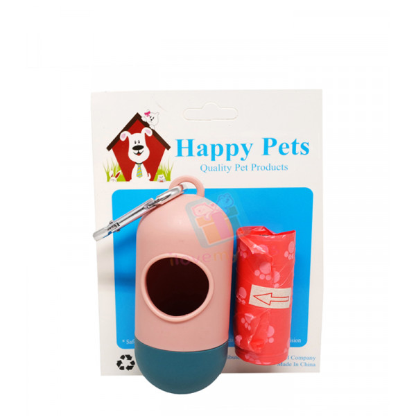 Happy Pets Poop Bag Dispenser (Free 1 Roll Refill)