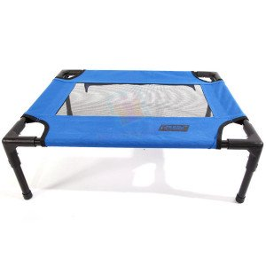 Petcomer Elevated Pet Cot, Fabric W/ mes...