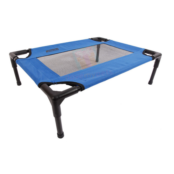 Petcomer Elevated Pet Cot, Fabric W/ Mesh Large