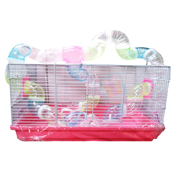 Hamster Cage w/ Extra Long Tunnel