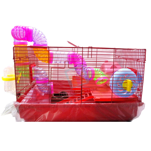 Bi Level Hamster Cage House Tray Type wi...