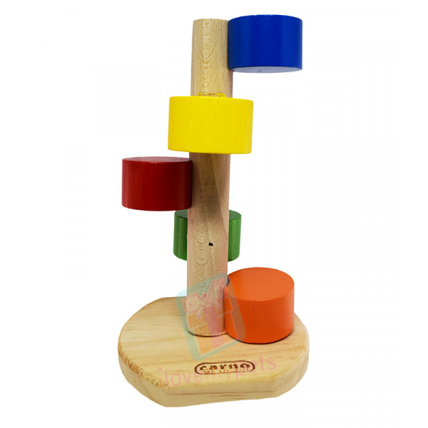 Carno Colorful Wooden Ladder Toy For Ham...