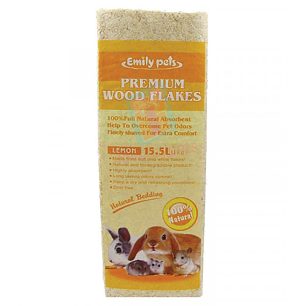 Emily pets premium wood flakes - Lemon 1...