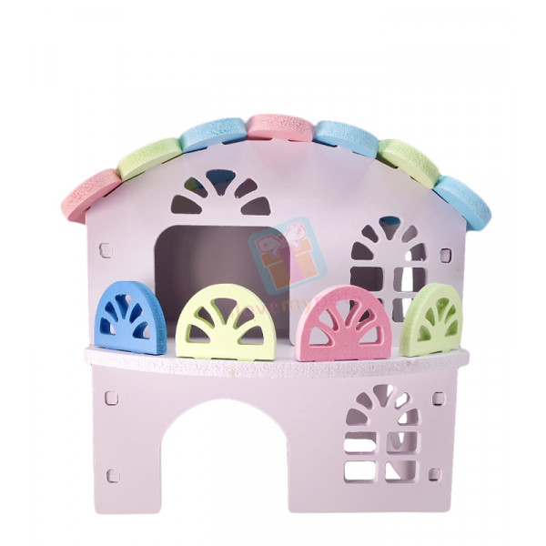 Happy Pets Colorful Two Layer Mansion  H...