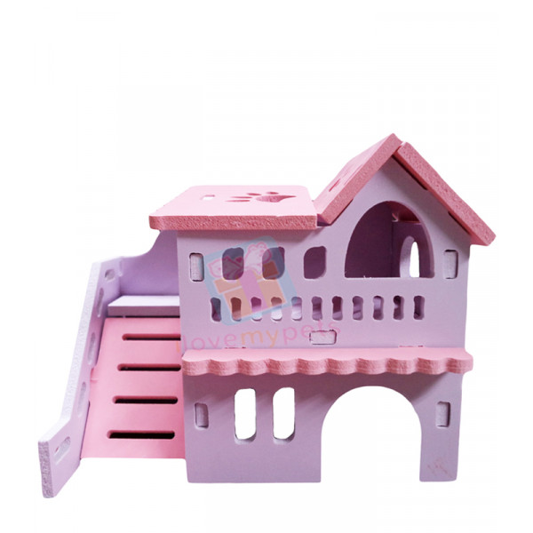 Happy Pets Wooden Hamster House w/ Outdo...