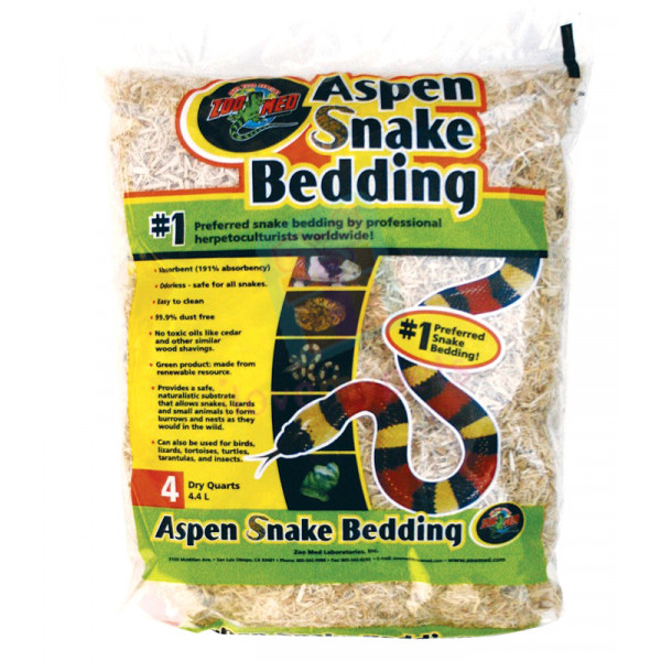 Zoomed Aspen Snake Bedding A SB4 = 4 QT