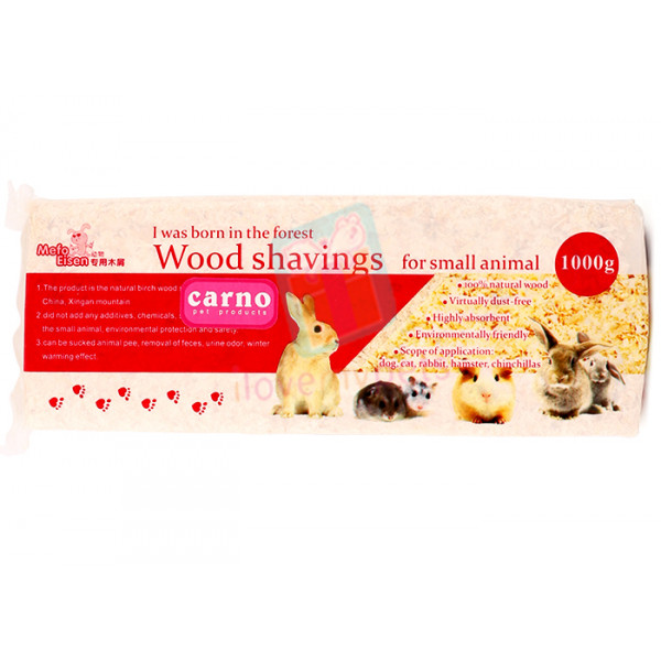 Carno Wood Shavings Rose 1kg