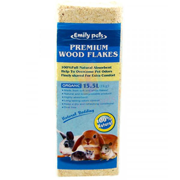 Emily pets premium wood flakes - Natural...