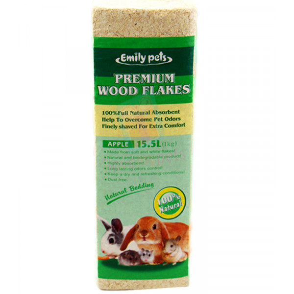 Emily pets premium wood flakes - Apple 1...