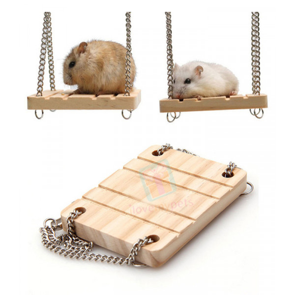Wooden Swing for Hamsters