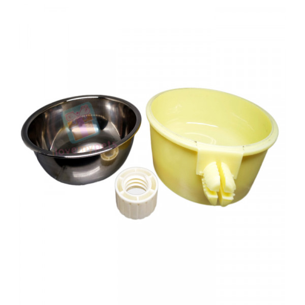 Carno Hanging Food Dish w/ Removable Bowl, Yellow