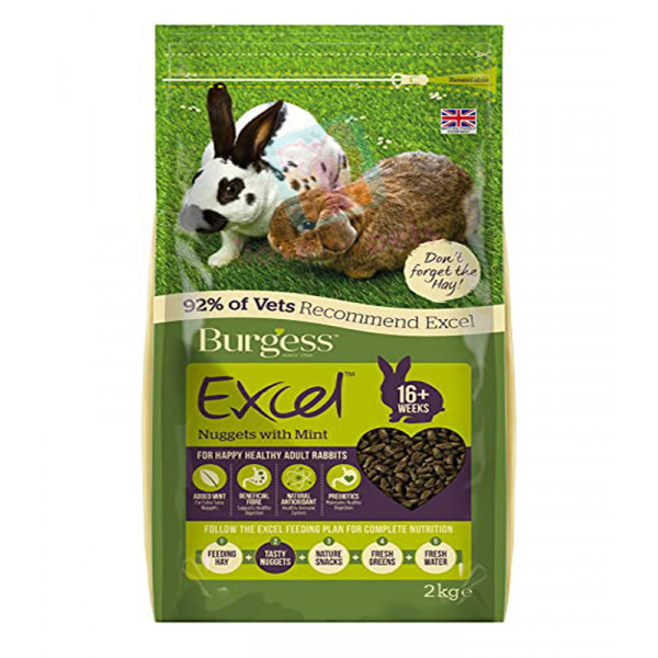 Burgess Excel Adult Rabbit Nuggets with ...