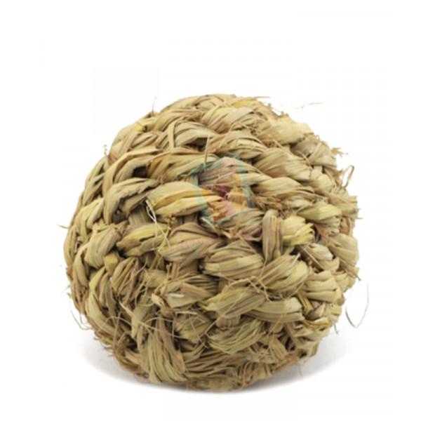 Grass Ball w/ Bell Rabbit Toy