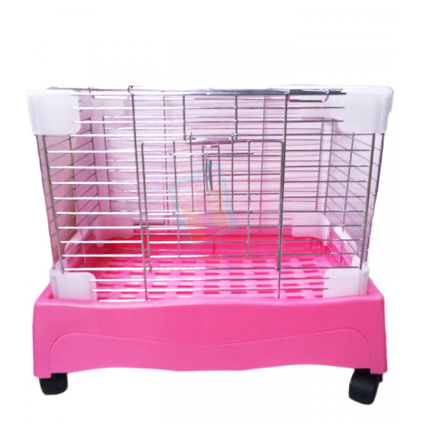 Rabbit Cage w/ Pull Out Tray & Wheel...