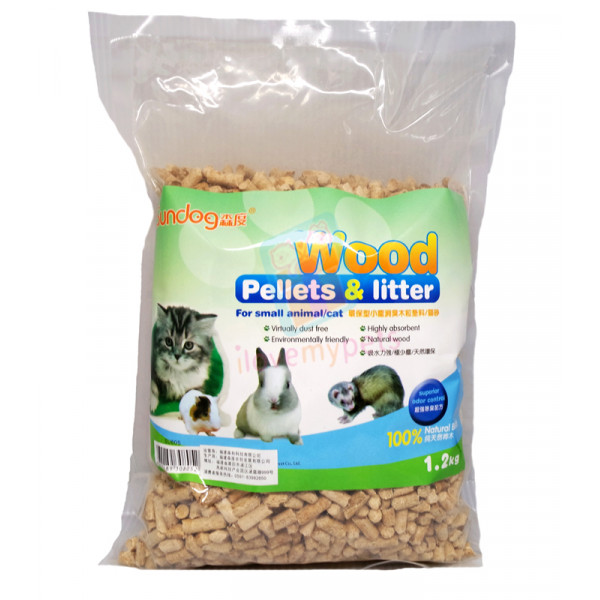 Sundog Wood Pellets Litter 1.2 kg (for C...