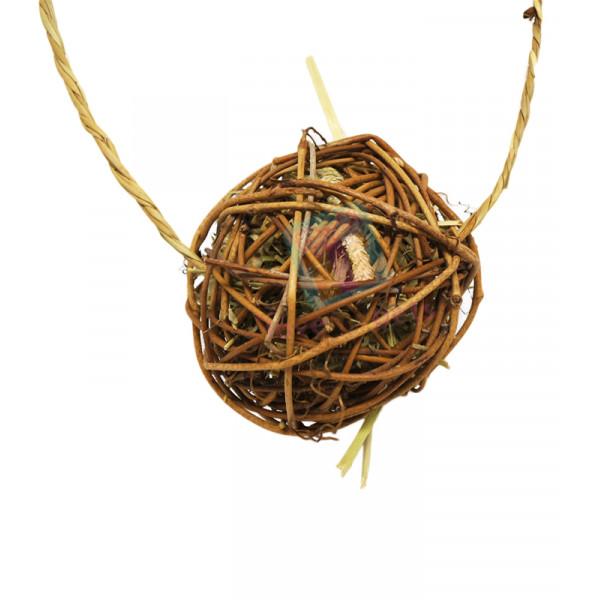 Sundog Natural Willow Ball w/ Sisal Rope