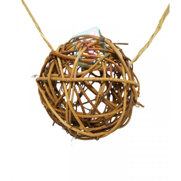 Sundog Natural Willow Ball w/ Sisal Rope