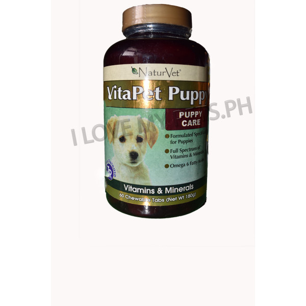 NaturVet Vitapet for Puppies 60's