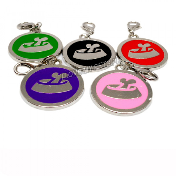 Pet ID Tag W/ Clip, Food Bowl Design