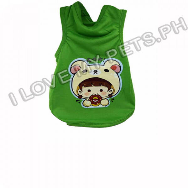 Bear Girl Cotton T-Shirt (Green)