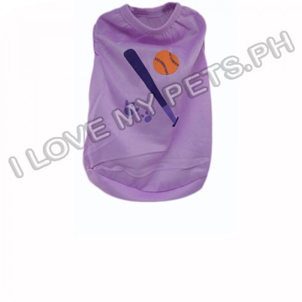 Baseball Bat - Polyester Shirt (Purple)