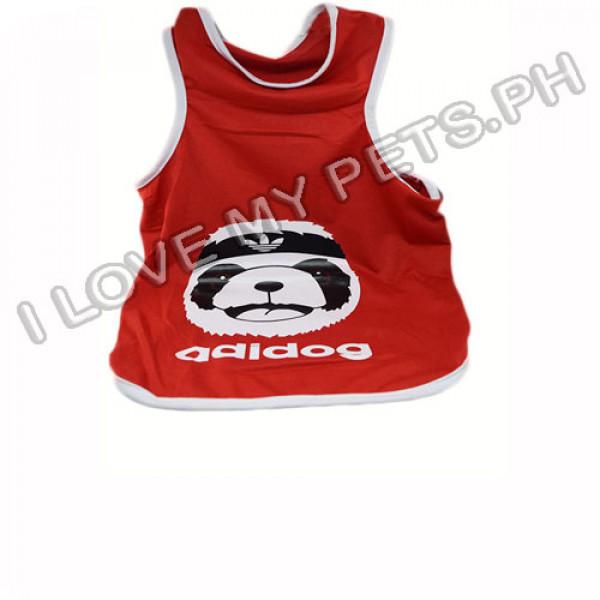 Adidog Cotton Shirt (Red)
