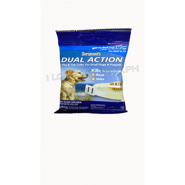 Sergeant's Dual Action Flea & Tick Collar For Small Dogs & Puppies