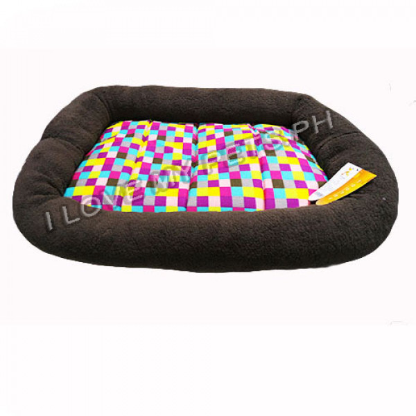 Hoopets plush rectangle dog bed, Checker...