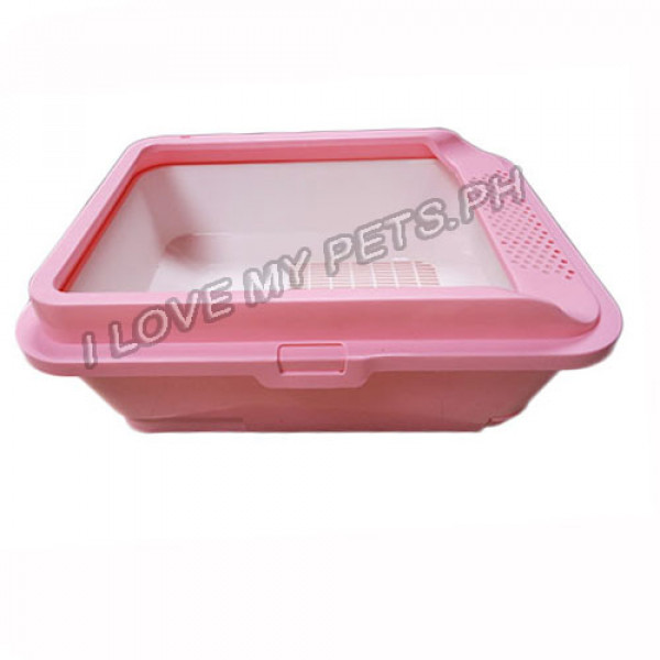 Cat Litter Pan W/ Pull Out Tray & Sc...