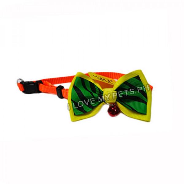 Collar W/ Ribbon & Bell Yellow &...