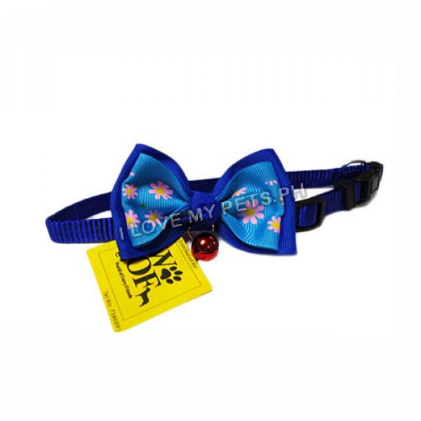 Collar W/ Ribbon & Bell Blue & D...