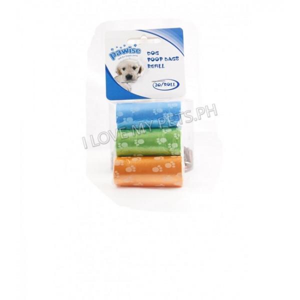 Pawise Poop Bag Refill - 3 Rolls (60 pcs...