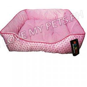 Michiko Classic Comfy Pet Bed Polka Dot ...