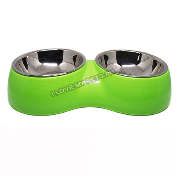 Small Double Removable Metal Bowl