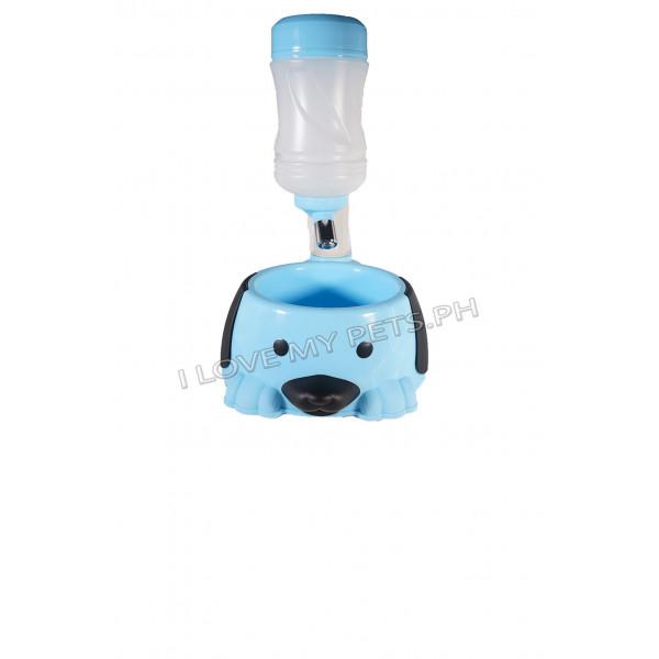 Cute Dog Design Food & Water Feeder ...