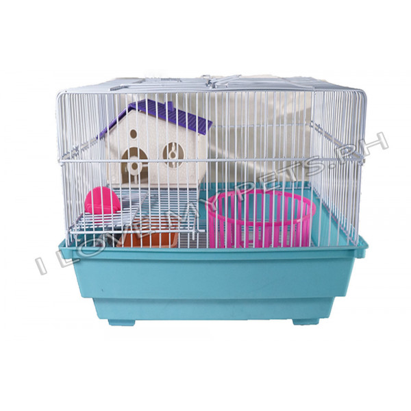 Hamster cage,rectangle w/ house & wh...