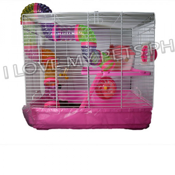 Hamster Bi Level House, Tray type W/ Tub...