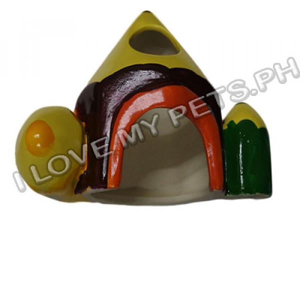 Ceramic Hamster House, Colorful Pencil