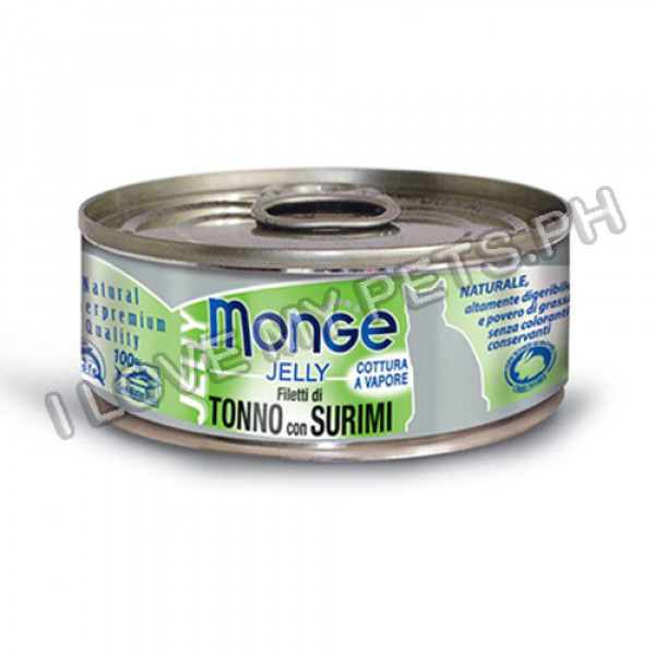 Monge Jelly Yellowfin Tuna with Surimi 80g