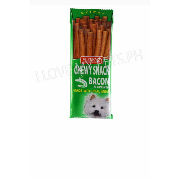 Sleeky Tasty Chews Sticks Bacon 50g
