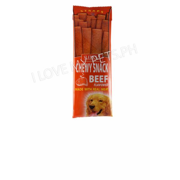 Sleeky Tasty Chews Straps Beef 50g